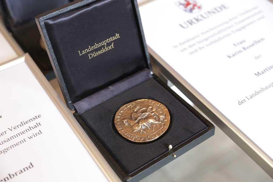 Martinstaler für ehrenamtliches Engagement verliehen (Foto: Stadt Düsseldorf/Ingo Lammert)