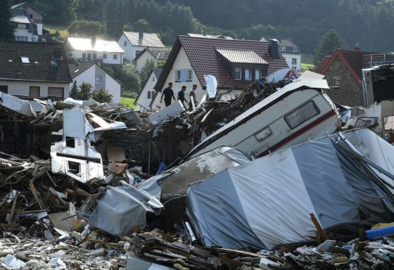 """Katastrophenschutz-Präsident fordert nach Hochwasser """"Politikwechsel"""" (© 2021 AFP)"""