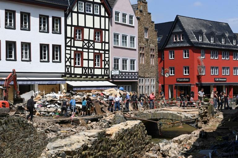 Nordrhein-Westfalen stellt 200 Millionen Euro als Nothilfe für Flutopfer bereit (© 2021 AFP)