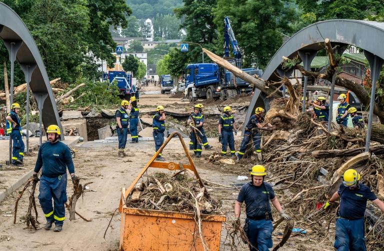 THW berichtet von Angriffen auf Einsatzkräfte in Hochwassergebieten (© 2021 AFP)