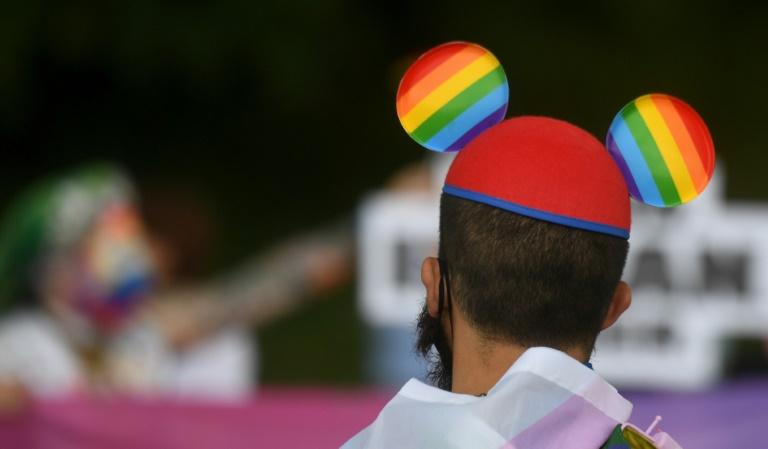 Müller ruft zu Solidarität mit verfolgten Schwulen, Lesben und Transgender auf (© 2021 AFP)
