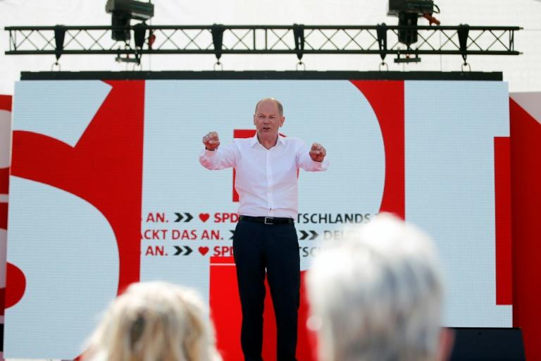 SPD läutet heiße Wahlkampfphase ein (© 2021 AFP)