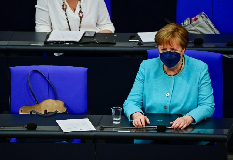 Merkel gibt Regierungserklärung im Bundestag zu Afghanistan ab (© 2021 AFP)