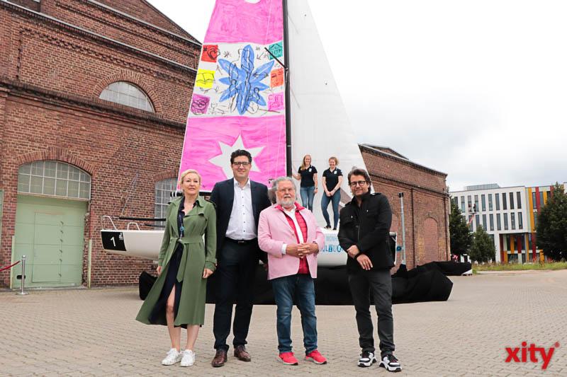 v.l. Claudia Jerger, Martin Witkowski, Stefan Szczesny, Dirk Geuer. (Foto: xity)