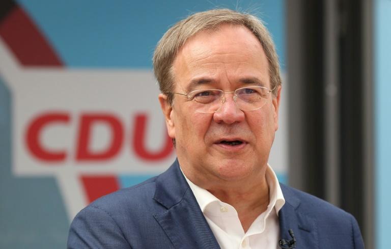Union startet heiße Wahlkampfphase mit Laschet, Söder und Merkel (© 2021 AFP)