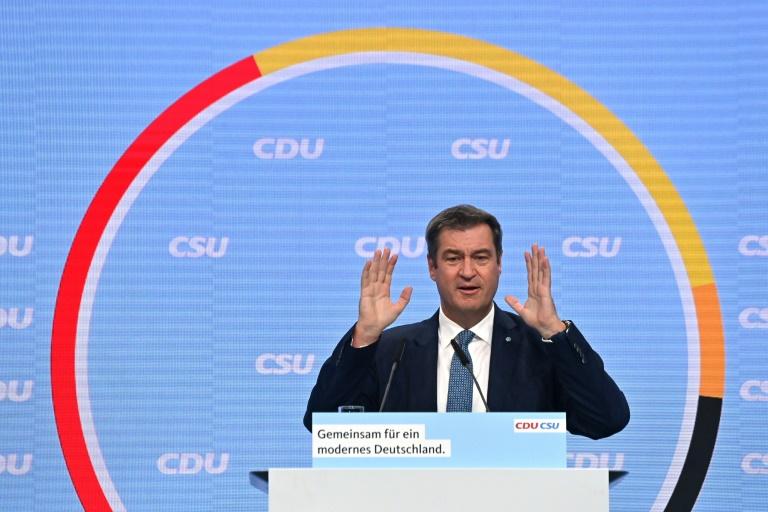 Söder warnt auf Unionskundgebung vor Verlust der Macht (© 2021 AFP)