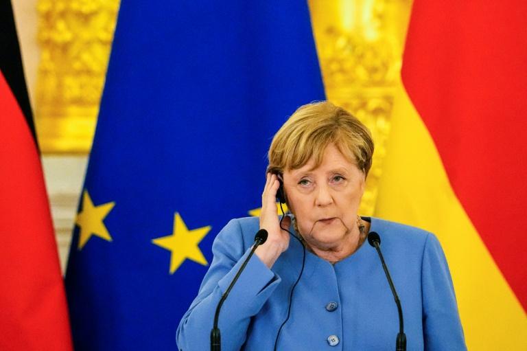 """Trittin: Merkel mit """"leeren Händen"""" in Kiew (© 2021 AFP)"""
