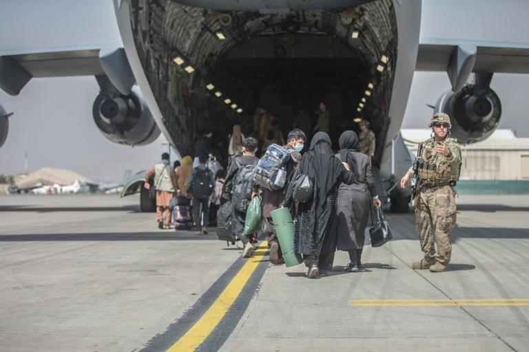 Maas: Es werden nicht alle Menschen vom Flughafen Kabul gerettet werden können (© 2021 AFP)