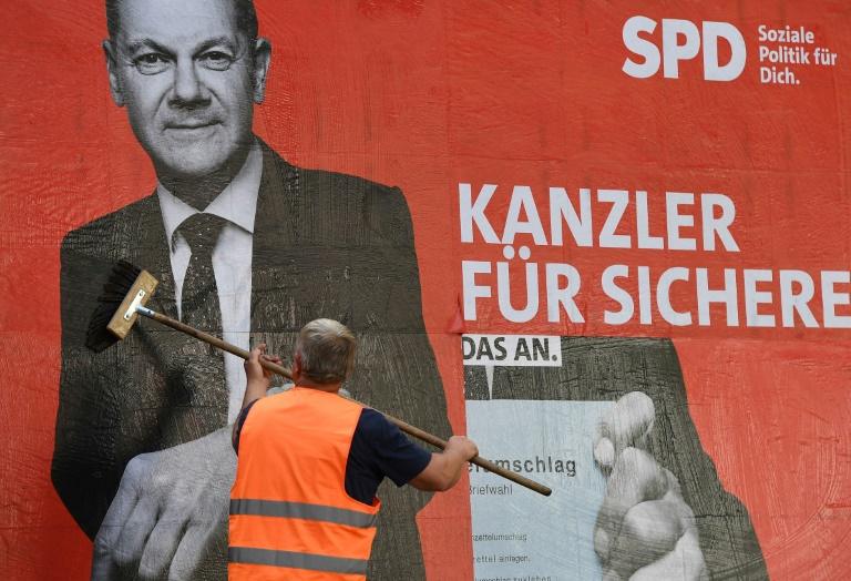 SPD erhofft sich von Umfragewerten Rückenwind für Schlussphase des Wahlkampfs (© 2021 AFP)