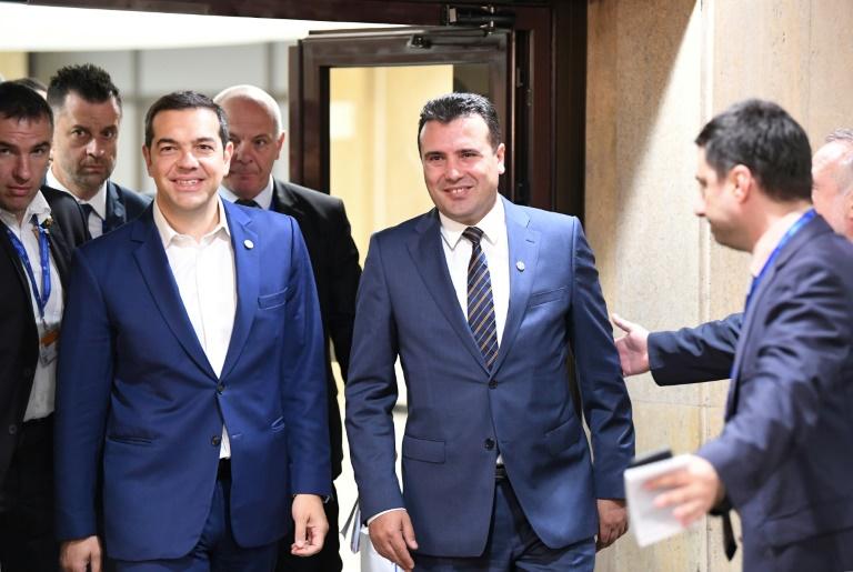 Tsipras und Zaev in Münster mit Westfälischem Friedenspreis ausgezeichnet (© 2021 AFP)