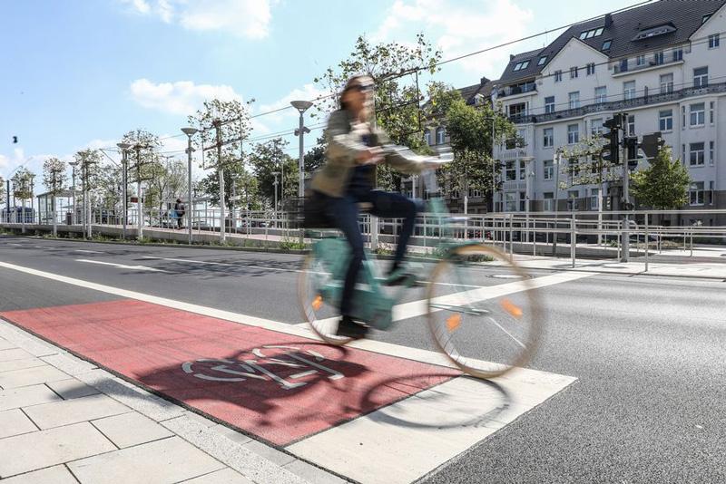Düsseldorf auf gutem Weg zur Fahrradstadt. (Foto: Stadt Düsseldorf)
