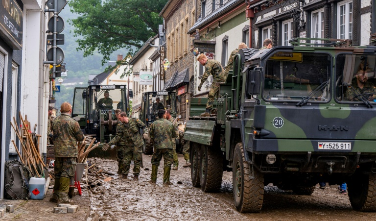 Bundeswehr beendet Hilfseinsatz in Hochwassergebieten (© 2021 AFP)