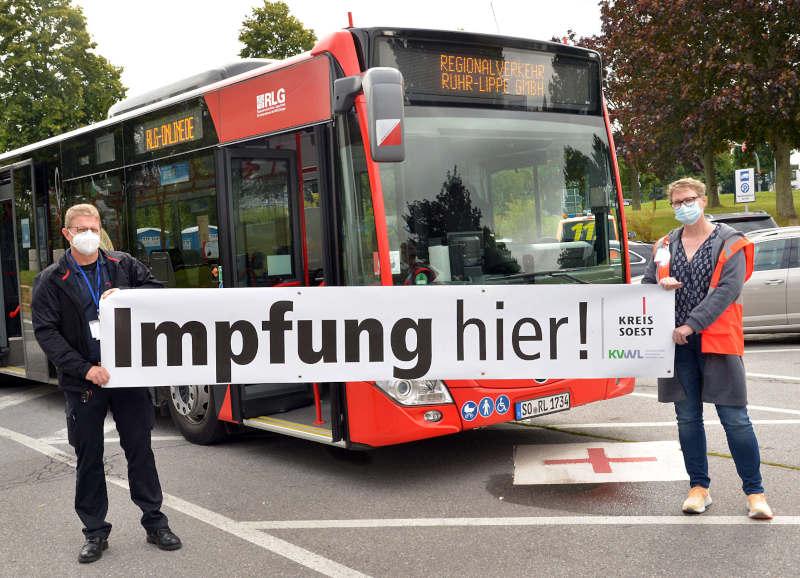 Von Samstag, 4. September, bis Freitag, 10. September, rollt der Impfbus durch den Kreis Soest. (Foto: Kreis Soest)