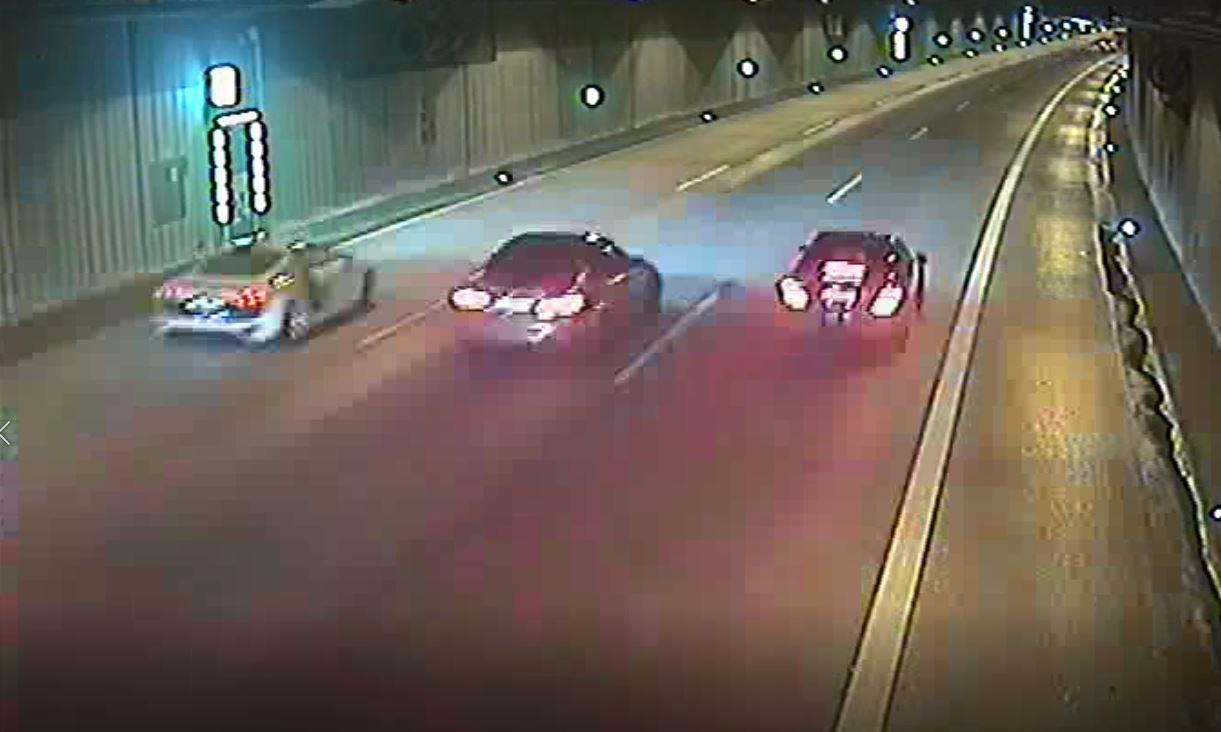 Aufnahmen aus dem Tunnel (Foto: Polizei Düsseldorf)
