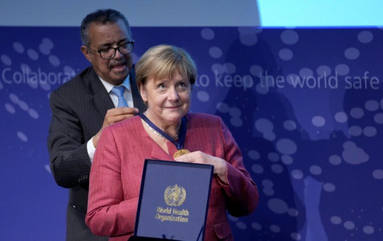 Merkel eröffnet globales Pandemie-Frühwarnsystem in Berlin (© 2021 AFP)