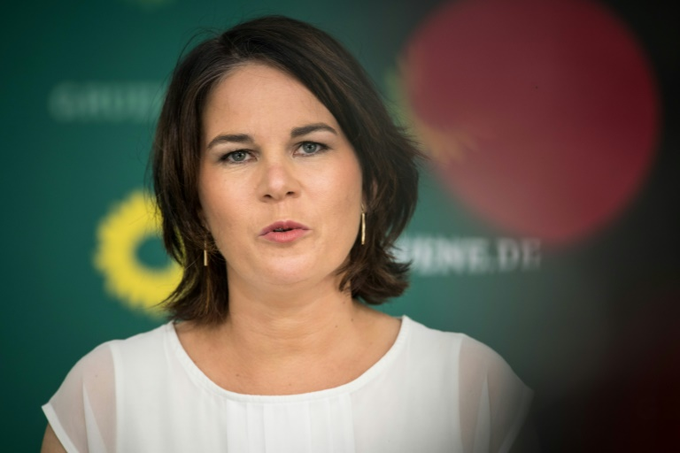 Baerbock würde am liebsten mit der SPD regieren (© 2021 AFP)