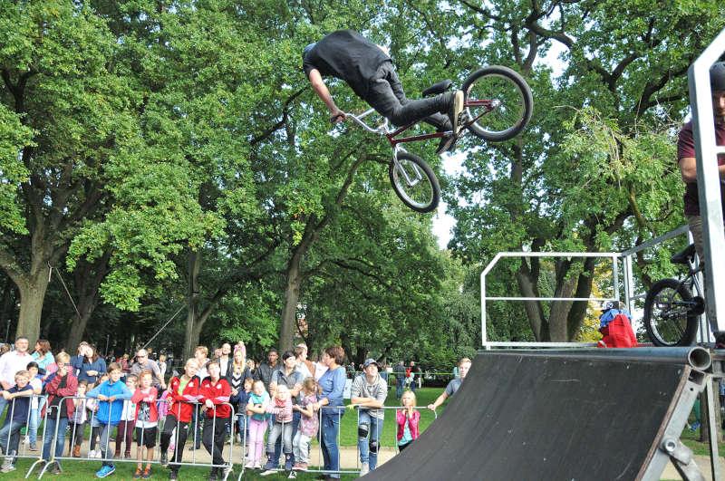 """BMX on stage"""" gibt es auch bei der zweiten Auflage des """"Aktionstages Fun & Sport"""". (Foto: Stadt Bocholt)"""