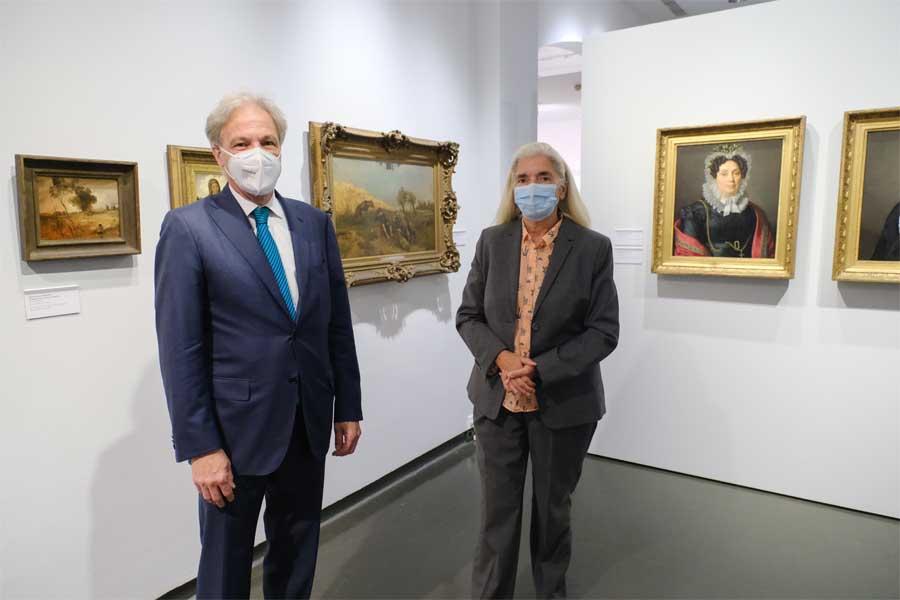 Kulturdezernent Hans-Georg Lohe mit Isabel Pfeiffer-Poensgen, Ministerin für Kultur und Wissenschaft(Foto: Stadt Düsseldorf/Michael Gstettenbauer)