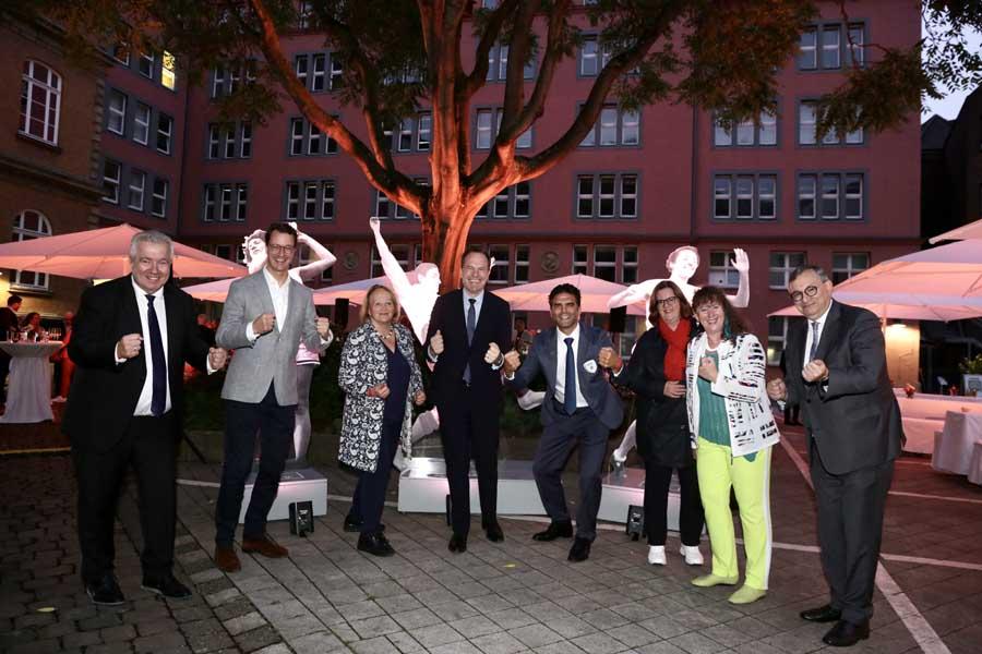 Makkabi Games 2021: Empfang mit Ausstellungseröffnung am Rathaus Düsseldorf (Foto: Stadt Düsseldorf/Ingo Lammert)