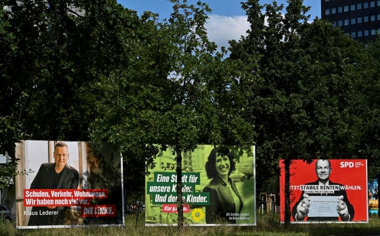 """SPD im ZDF-""""Politbarometer"""" erstmals seit 19 Jahren vor der Union (© 2021 AFP)"""