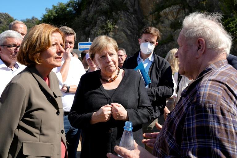 """Merkel: """"Werden Flut nicht vergessen"""" (© 2021 AFP)"""