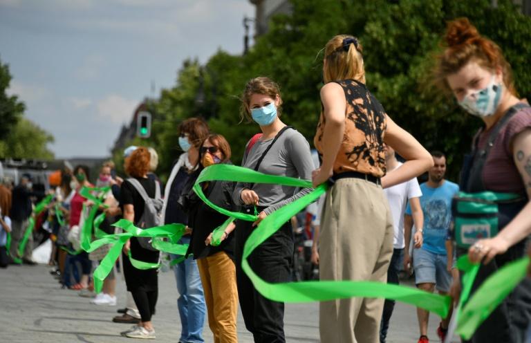 Aktionsbündnis Unteilbar demonstriert am Samstag in Berlin (© 2021 AFP)