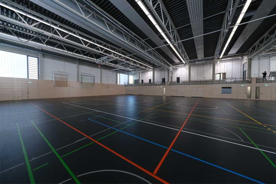 Neue Dreifachsporthalle des Cecilien-Gymnasiums eröffnet(Foto: Stadt Düsseldorf/Michael Gstettenbauer)