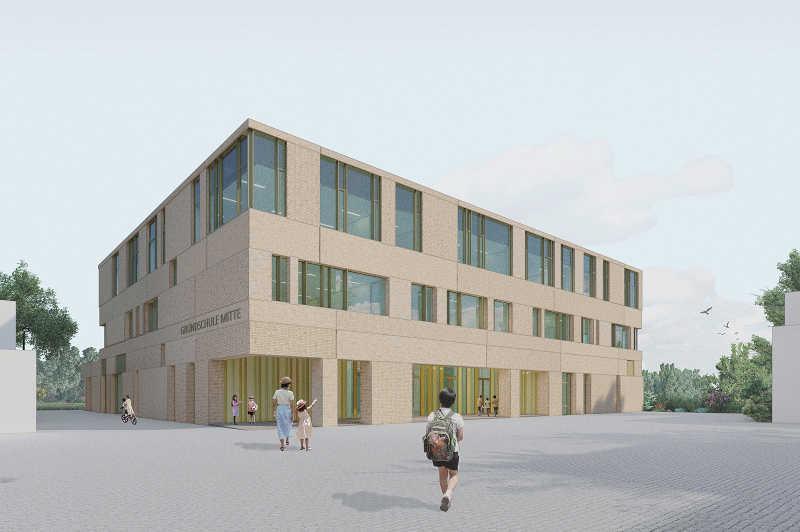 Neubau der Grundschule Feldsieper Straße. (Foto: Stadt Bochum)