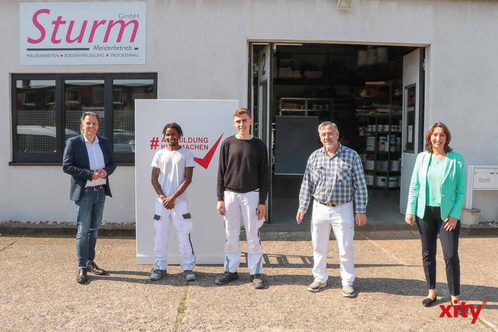 v.L.: Torsten Withake, Mamadou Moussa Diallo, Christo Charalampidis, Uwe Sturm, Birgitta Kubsch-Von Harten (Foto: xity)