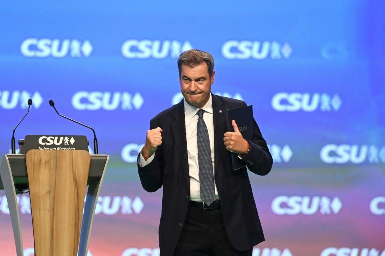 Söder mit 87,6 Prozent als CSU-Chef wiedergewählt (© 2021 AFP)
