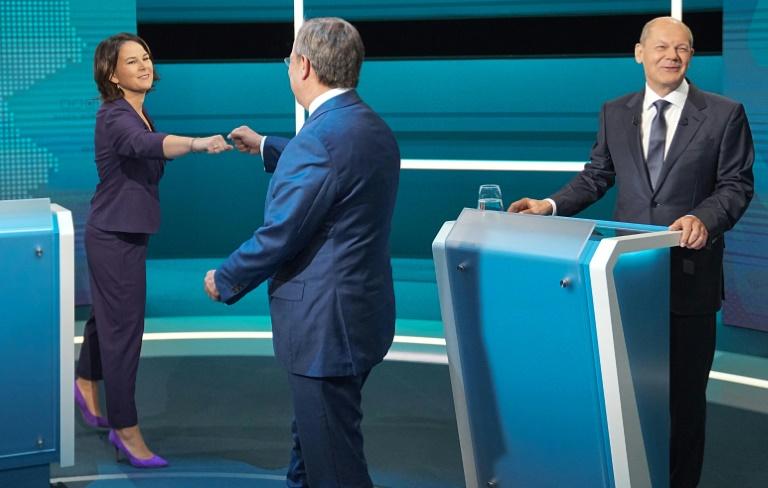 Laschet, Scholz und Baerbock treffen erneut in TV-Dreikampf aufeinander (© 2021 AFP)