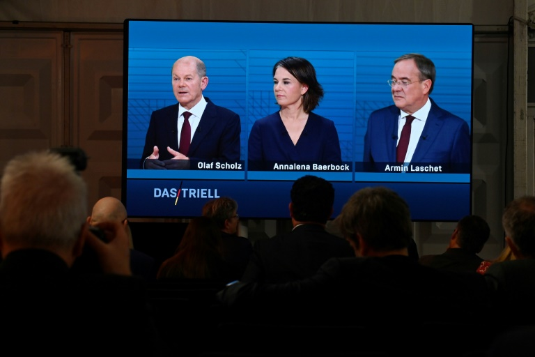 Triell-Zuschauer halten Scholz für den Gewinner (© 2021 AFP)