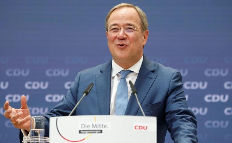 Laschet kündigt Auftritte mit Merkel in Wahlkreisen an (© 2021 AFP)