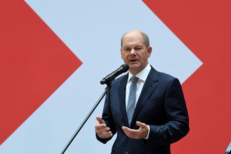 """Scholz will """"echte Zuneigung"""" unter Koalitionspartnern erreichen (© 2021 AFP)"""