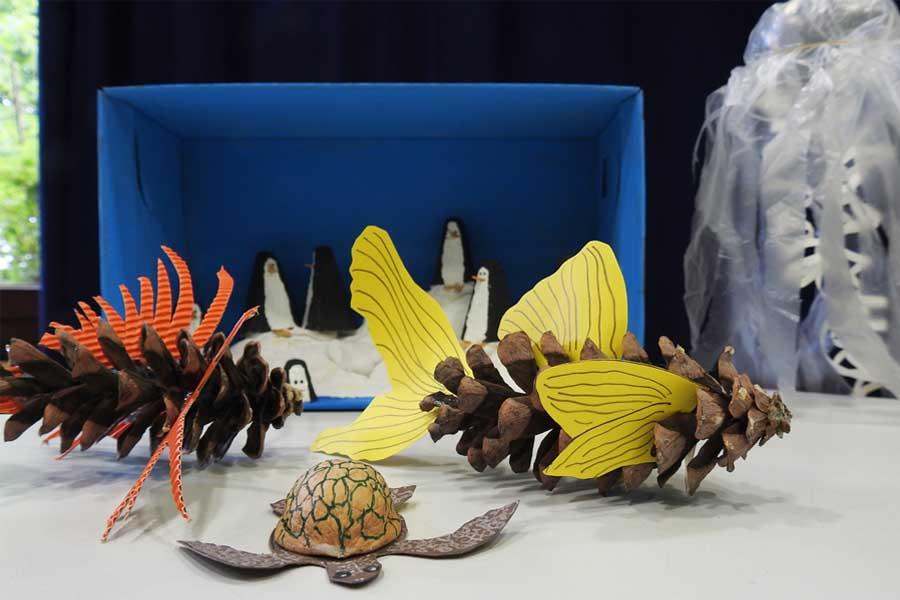 Im Ferienraum des Aquazoos werden unter anderem herbstliche Bastelaktionen angeboten (Foto: Aquazoo Löbbecke Museum)