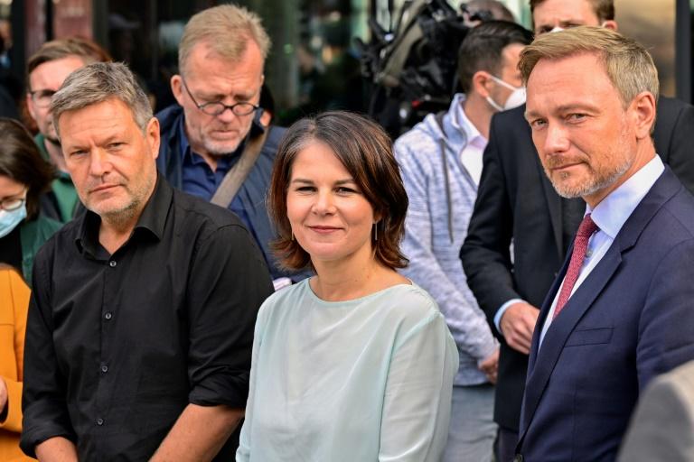 Grüne und FDP sprechen nach zweitem Treffen von guter Atmosphäre (© 2021 AFP)