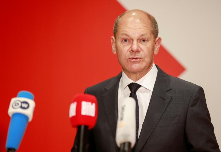 """Scholz will mit Grünen und FDP Regierung für """"den Fortschritt"""" bilden (© 2021 AFP)"""