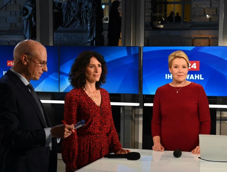 Berliner SPD startet Dreiersondierungen nach Abgeordnetenhauswahl mit Grünen und FDP (© 2021 AFP)