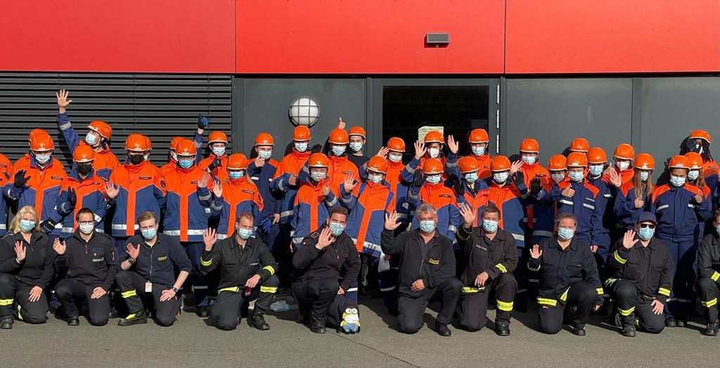 Rund 50 Kinder und Jugendliche nahmen an der Herbstferienaktion der Jugendfeuerwehr Düsseldorf teil (Foto: Stadt Düsseldorf/Feuerwehr)