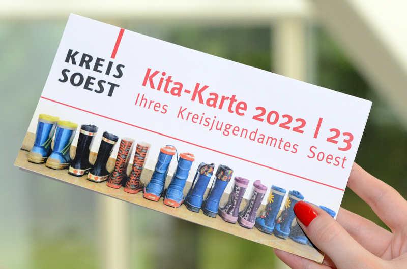 So sieht die Kita-Karte 2022/23 des Kreisjugendamtes Soest aus. (Foto: Kreis Soest)